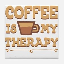 Coffee is my Therapy Tile Coaster