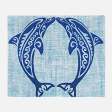 Cute Dolphin Throw Blanket