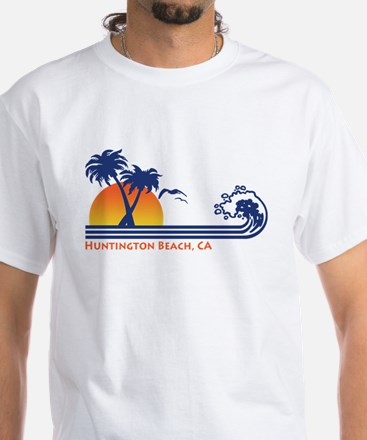 Huntington Beach California White T-Shirt