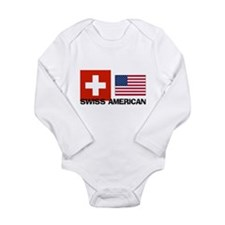Funny Swiss Long Sleeve Infant Bodysuit
