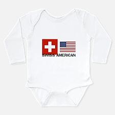 Born american Long Sleeve Infant Bodysuit