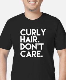 Unique Curly Men's Fitted T-Shirt (dark)