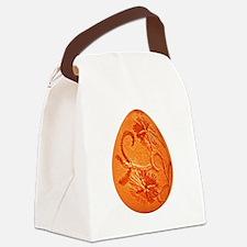 Gorgeous Orange Easter Egg Canvas Lunch Bag