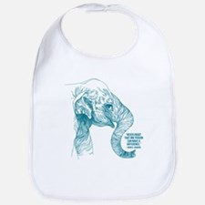 One Can Make a Difference Elephant Sketch Bib