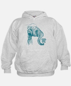 One Can Make a Difference Elephant Sketch Hoodie