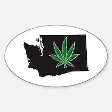 Washington State Marijuana Pot Leaf Decal