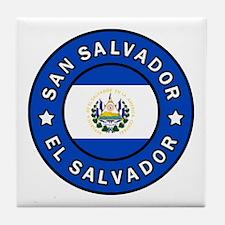 Cute El salvador pride Tile Coaster