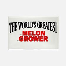 """""""The World's Greatest Melon Grower"""" Rectangle Magn"""