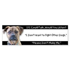 Stop Dog Fighting Bumper Car Sticker