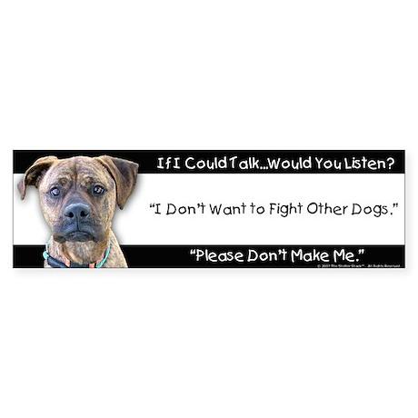 Stop Dog Fighting Bumper Sticker