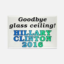 Goodbye glass ceiling! - Rectangle Magnet