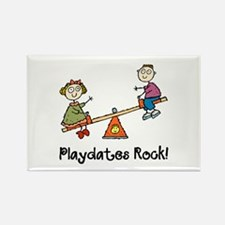 Playdates Rock! Rectangle Magnet