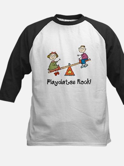 Playdates Rock! Kids Baseball Jersey