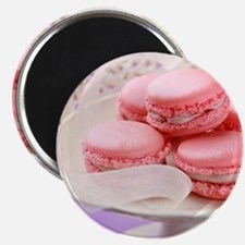 Pink macarons in a box Magnets