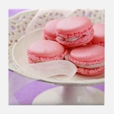 Pink macarons in a box Tile Coaster