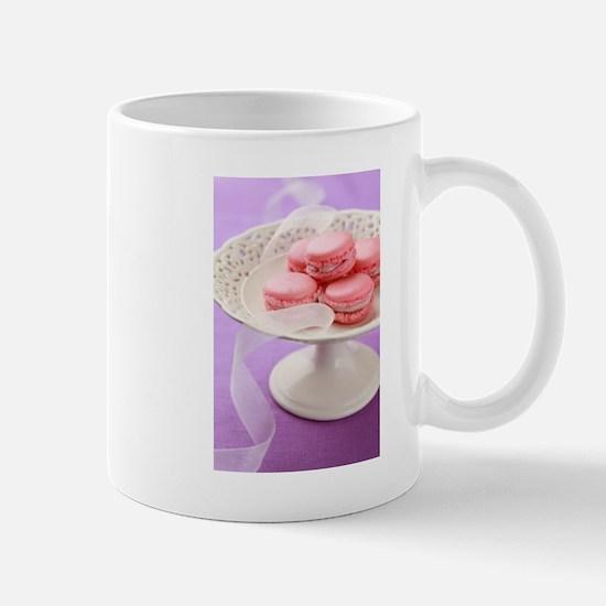Pink macarons in a box Mugs
