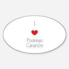 I love Podengo Canarios Decal
