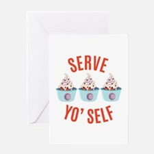 Serve Yoself Greeting Cards