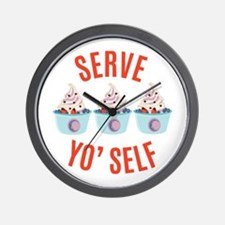Serve Yoself Wall Clock