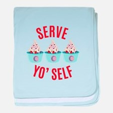 Serve Yoself baby blanket
