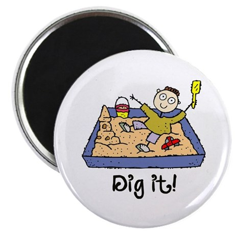 Dig It! Sandbox Magnet