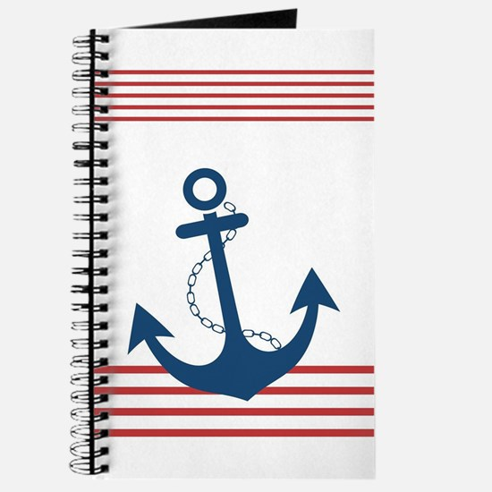 Nautical Stiped Design with Anchor Journal