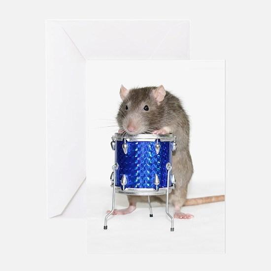 Unique Rats rock Greeting Card