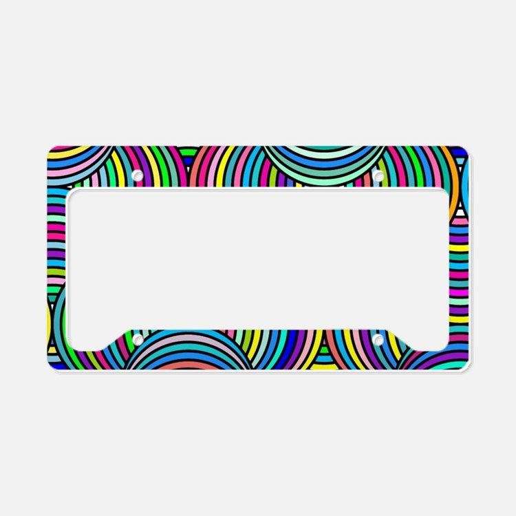Cute Geometric patterns License Plate Holder