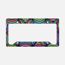 Cute Psychedelic License Plate Holder