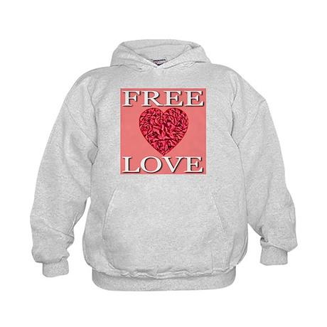 Free Love (Front & Back) Kids Hoodie