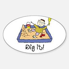 Dig It! Sandbox Oval Decal