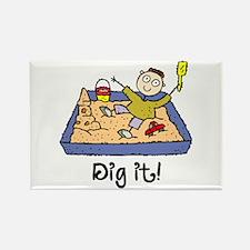 Dig It! Sandbox Rectangle Magnet