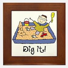 Dig It! Sandbox Framed Tile