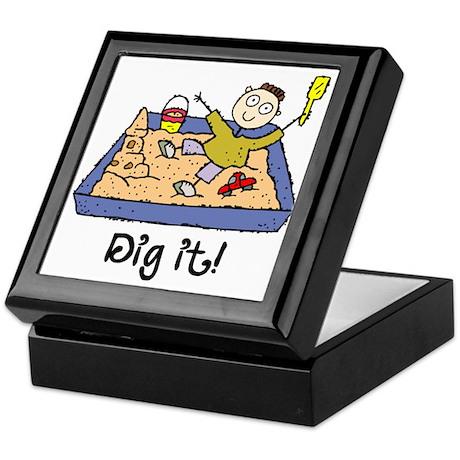 Dig It! Sandbox Keepsake Box