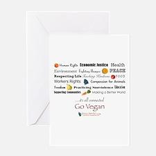 Cute Veganism Greeting Card