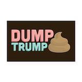 "Dump trump 3"" x 5"""
