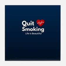 Quit Smoking Tile Coaster
