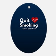 Quit Smoking Oval Ornament