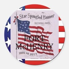 Abh Fort Mchenry Round Car Magnet