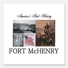 """Abh Fort Mchenry Square Car Magnet 3"""" X 3&quo"""