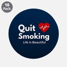"Quit Smoking 3.5"" Button (10 pack)"