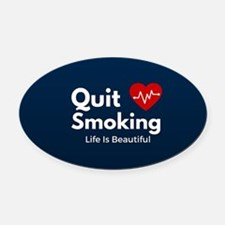 Quit Smoking Oval Car Magnet