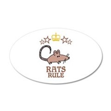 Rats Rule Wall Decal