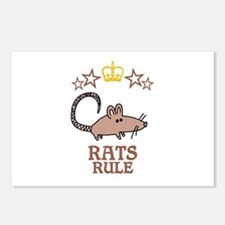 Rats Rule Postcards (Package of 8)