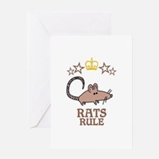 Rats Rule Greeting Card