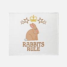 Rabbits Rule Throw Blanket