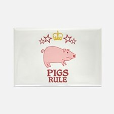 Pigs Rule Rectangle Magnet