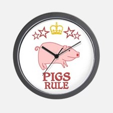 Pigs Rule Wall Clock
