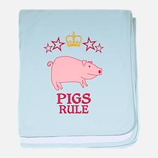 Pigs Rule baby blanket