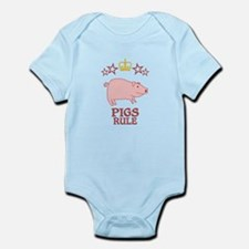 Pigs Rule Infant Bodysuit
